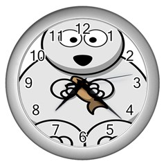 Bear Polar Bear Arctic Fish Mammal Wall Clocks (silver)