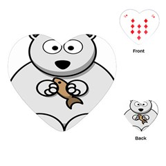 Bear Polar Bear Arctic Fish Mammal Playing Cards (heart)