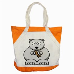 Bear Polar Bear Arctic Fish Mammal Accent Tote Bag