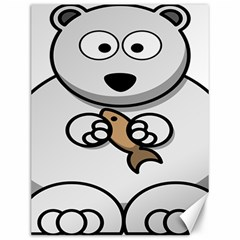 Bear Polar Bear Arctic Fish Mammal Canvas 12  X 16