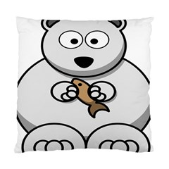 Bear Polar Bear Arctic Fish Mammal Standard Cushion Case (two Sides)