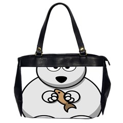 Bear Polar Bear Arctic Fish Mammal Office Handbags (2 Sides)