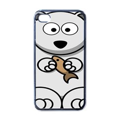 Bear Polar Bear Arctic Fish Mammal Apple Iphone 4 Case (black)