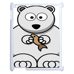 Bear Polar Bear Arctic Fish Mammal Apple Ipad 2 Case (white)