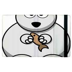 Bear Polar Bear Arctic Fish Mammal Apple Ipad 2 Flip Case