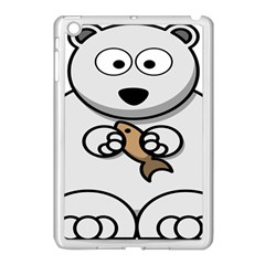 Bear Polar Bear Arctic Fish Mammal Apple Ipad Mini Case (white) by Nexatart