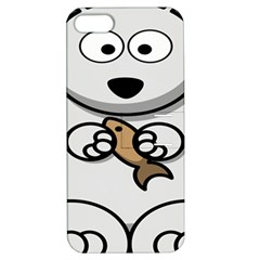 Bear Polar Bear Arctic Fish Mammal Apple Iphone 5 Hardshell Case With Stand