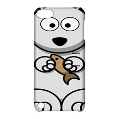 Bear Polar Bear Arctic Fish Mammal Apple Ipod Touch 5 Hardshell Case With Stand