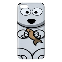 Bear Polar Bear Arctic Fish Mammal Apple Iphone 5 Premium Hardshell Case