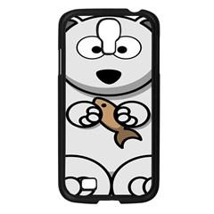 Bear Polar Bear Arctic Fish Mammal Samsung Galaxy S4 I9500/ I9505 Case (black)