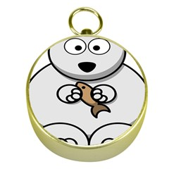 Bear Polar Bear Arctic Fish Mammal Gold Compasses