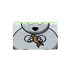 Bear Polar Bear Arctic Fish Mammal Cosmetic Bag (xs)