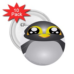 Cute Penguin Animal 2 25  Buttons (10 Pack)