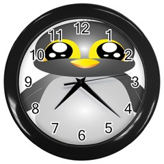 Cute Penguin Animal Wall Clocks (black)