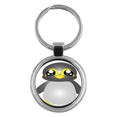 Cute Penguin Animal Key Chains (round)