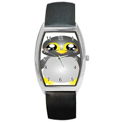 Cute Penguin Animal Barrel Style Metal Watch