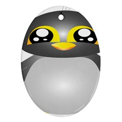 Cute Penguin Animal Oval Ornament (two Sides)