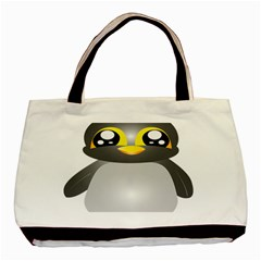 Cute Penguin Animal Basic Tote Bag (two Sides)
