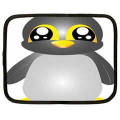 Cute Penguin Animal Netbook Case (large)