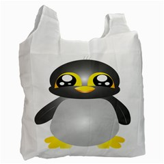 Cute Penguin Animal Recycle Bag (two Side)