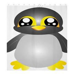 Cute Penguin Animal Shower Curtain 66  X 72  (large)
