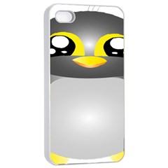 Cute Penguin Animal Apple Iphone 4/4s Seamless Case (white)