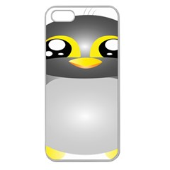 Cute Penguin Animal Apple Seamless Iphone 5 Case (clear)