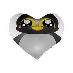 Cute Penguin Animal Standard 16  Premium Heart Shape Cushions