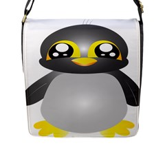 Cute Penguin Animal Flap Messenger Bag (l)  by Nexatart
