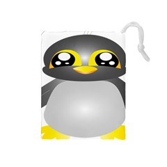 Cute Penguin Animal Drawstring Pouches (medium)
