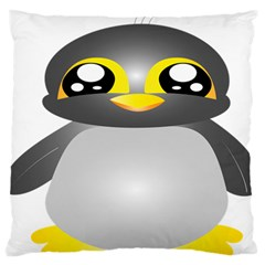 Cute Penguin Animal Large Flano Cushion Case (two Sides)