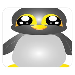 Cute Penguin Animal Double Sided Flano Blanket (small)