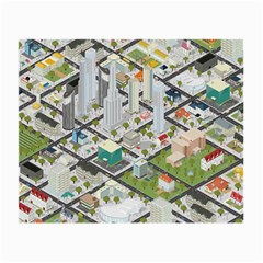 Simple Map Of The City Small Glasses Cloth (2 Side)