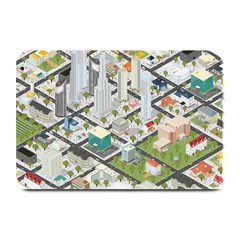 Simple Map Of The City Plate Mats