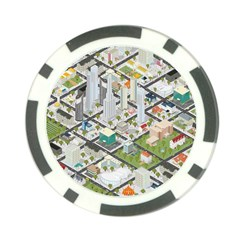 Simple Map Of The City Poker Chip Card Guard (10 Pack)