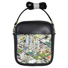 Simple Map Of The City Girls Sling Bags