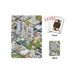 Simple Map Of The City Playing Cards (mini)