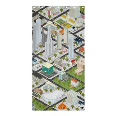 Simple Map Of The City Shower Curtain 36  X 72  (stall)  by Nexatart