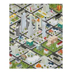 Simple Map Of The City Shower Curtain 60  X 72  (medium)