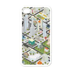 Simple Map Of The City Apple Iphone 4 Case (white)