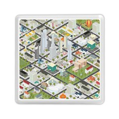 Simple Map Of The City Memory Card Reader (square)