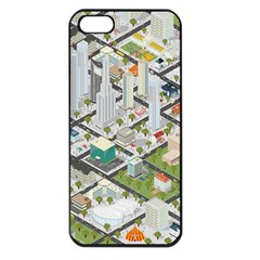 Simple Map Of The City Apple Iphone 5 Seamless Case (black)