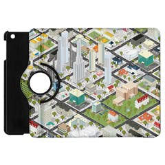 Simple Map Of The City Apple Ipad Mini Flip 360 Case