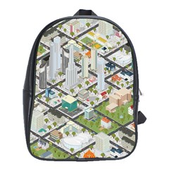 Simple Map Of The City School Bag (xl)
