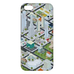 Simple Map Of The City Apple Iphone 5 Premium Hardshell Case