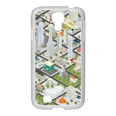 Simple Map Of The City Samsung Galaxy S4 I9500/ I9505 Case (white)