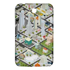 Simple Map Of The City Samsung Galaxy Tab 3 (7 ) P3200 Hardshell Case
