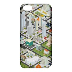 Simple Map Of The City Apple Iphone 5c Hardshell Case