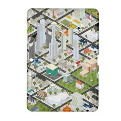 Simple Map Of The City Samsung Galaxy Tab 2 (10 1 ) P5100 Hardshell Case