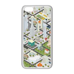 Simple Map Of The City Apple Iphone 5c Seamless Case (white)